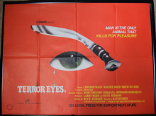 Terror Eyes UK Quad Poster